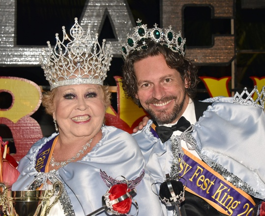 2015 Key West Fantsy Fest Queen Jodyrae Campbell, left, and King Mark Watson Photo by Pete Arnow