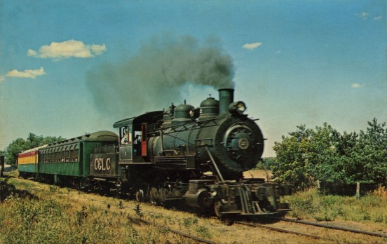 This full size old time Steam Train carries passengers on schedule between lake City & Cadillac, Michigan